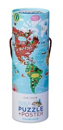 Puzzle Rompecabezas 200 Piezas + Poster Ciudades Del Mundo