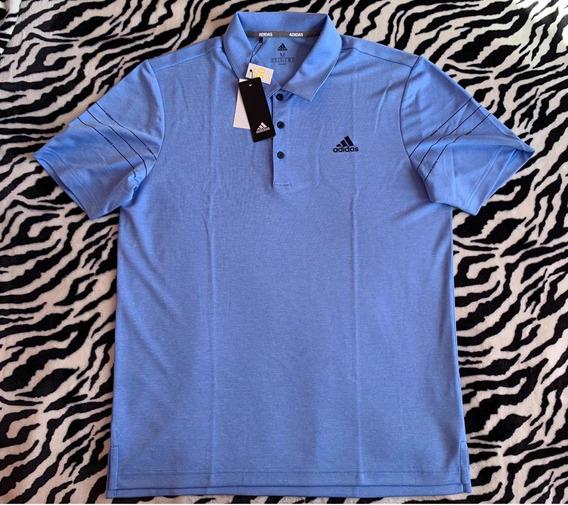 Polo Playera adidas (talla M) Golf 100% Original Azul Akw
