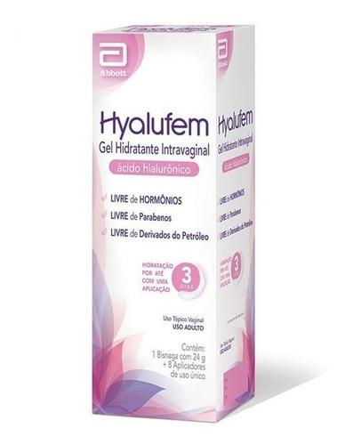 Imagem 1 de 2 de Hyalufem Gel Hidratante Vaginal 24g +8 Aplicadores