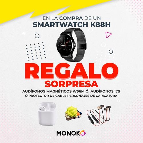Imagen 1 de 9 de Smartwatch K88h Metálico Bluetooth Deportivo Redes Sociales
