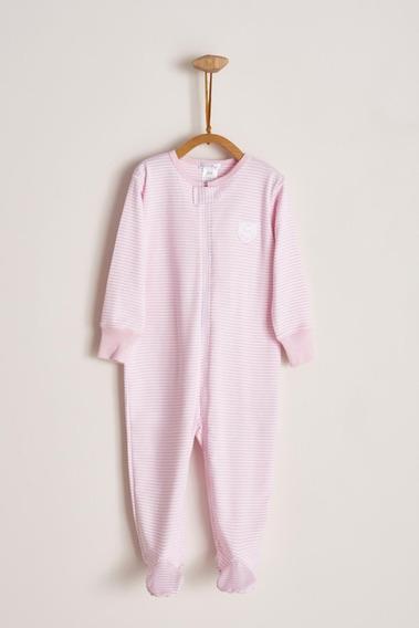 Babycottons Pijama Enterito Con Cierre Rayado Bebé