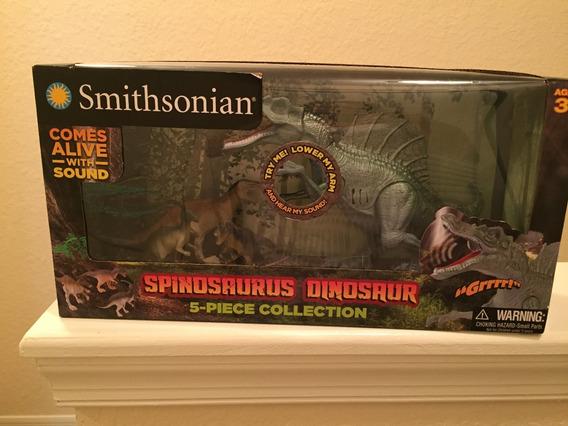 Dinossauro T-rex Com Som - 5 Peças Marca Smithsonian