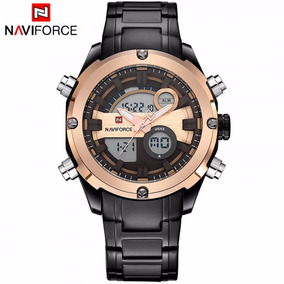 Relógio De Luxo Masculino Naviforce Original Digital Preto