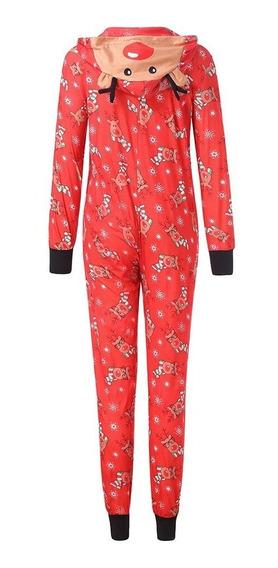 Pijama Mameluco Familia Navidad Reno Matching