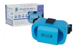 Oculos Virtual Vr Box 2.0 3d Mini Azul