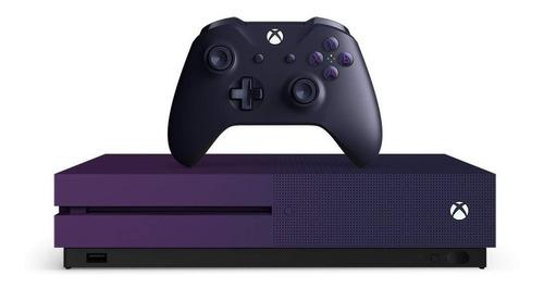 Microsoft Xbox One S 1TB Fortnite Battle Royale Special Edition Bundle  color violeta gradiente
