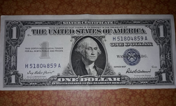 Cedula (nota) De 1 Dolar Selo Azul