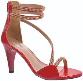 7443ba35f Sandalia Festa Prata Com Strass Sandalias - Sapatos para Feminino ...