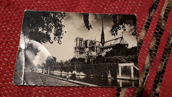 Postal Notre Dame Circulada En El 55