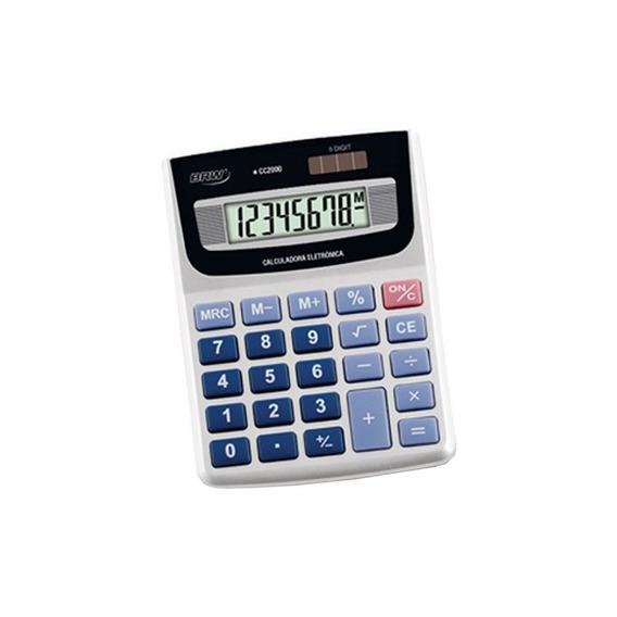 Calculadora Pequena De Mesa 08 Dígitos Cc2000 Brw 01un