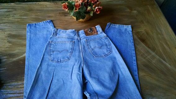 Calça Jeans Cintura Alta Retrô Tamanho 40