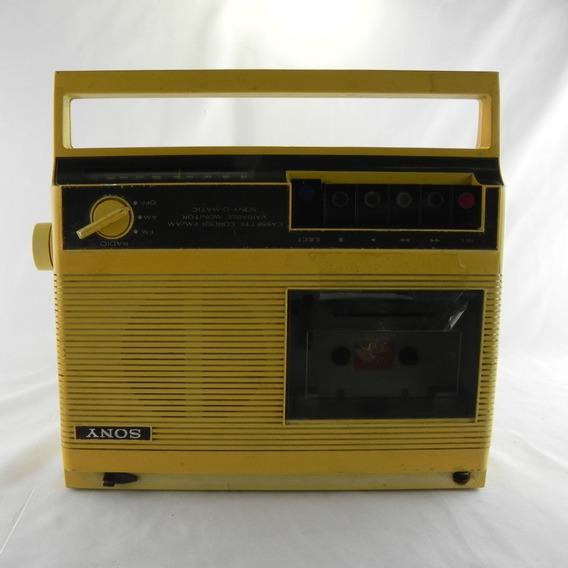 Rádio Am/fm Gravador Fita K7 Sony Cf-130 - Usado C/ Defeito