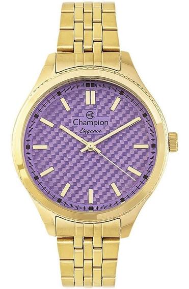 Relógio Feminino Champion Analógico Cn27527d Fundo Lilás