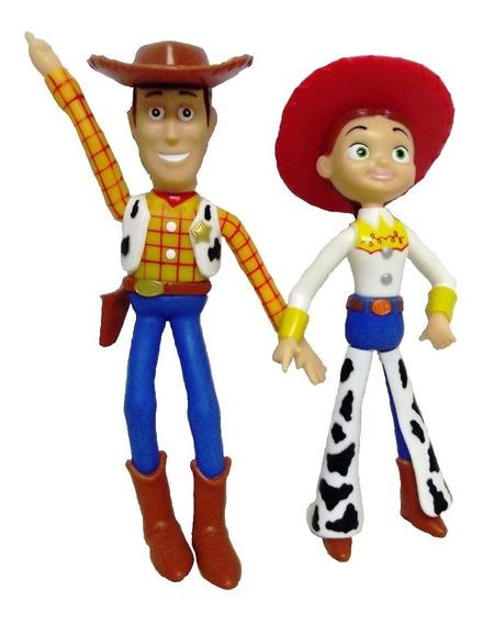 Bonecos De Vinil Toy Story - Woody E Jessi