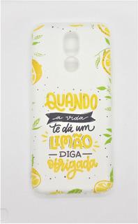 Capa Capinha LG K12 Plus Feminina Frases Praia + Pelicula
