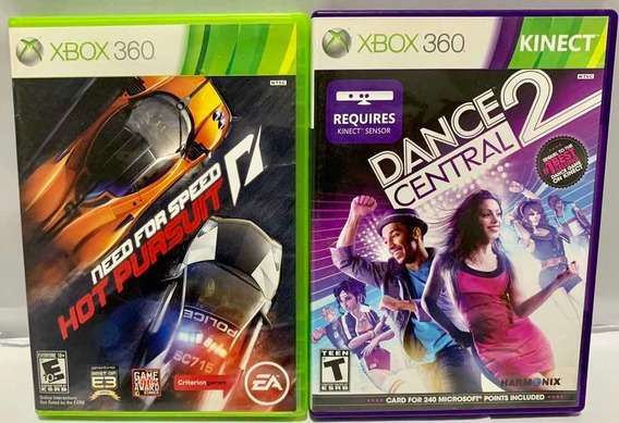 Microsoft Xbox 360 Jogos Game Dance Central 2 Nfs Hotpursuit