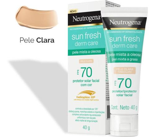 Protetor Solar Facial Neutrogena Sun Fresh - Clara Fps70 40g