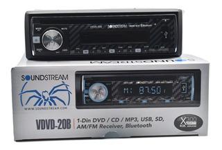 Autoestéreo Soundstream Bluetooth Receptor Dvd Cd Vdvd-20b