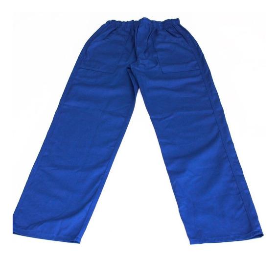 Kit 4 Calças Uniformes Profissionais Azul