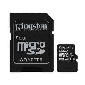 Cartao De Memoria 16gb Microsd Kingston Classe 10 Sdcs/16gb