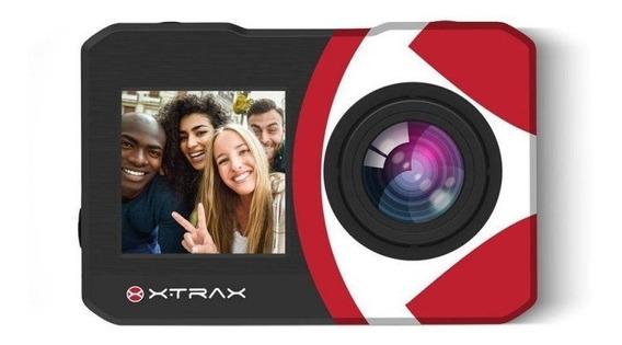 Câmera De Ação Xtrax Selfie 4k Com Controle Remoto Preta