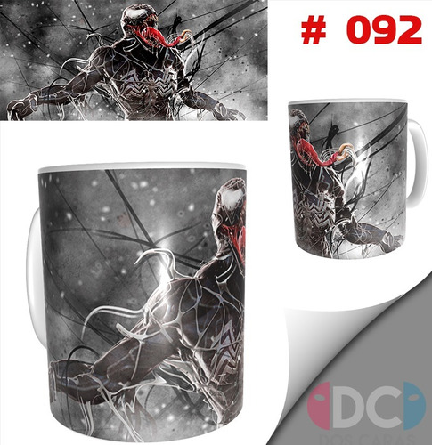 Taza Comics Coleccionables Spiderman Venom # 092