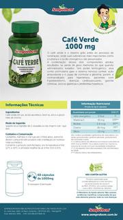 O Café Verde 60 Capsulas 1000mg