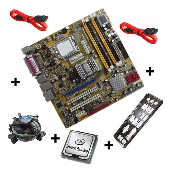 Kit Placa Mae Pos-pq35as 775 Ddr2 + Processador Dual Core