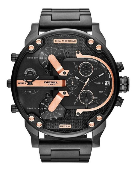 Relógio Diesel Mr. Daddy 2.0 Dz7312 Preto Rose Original