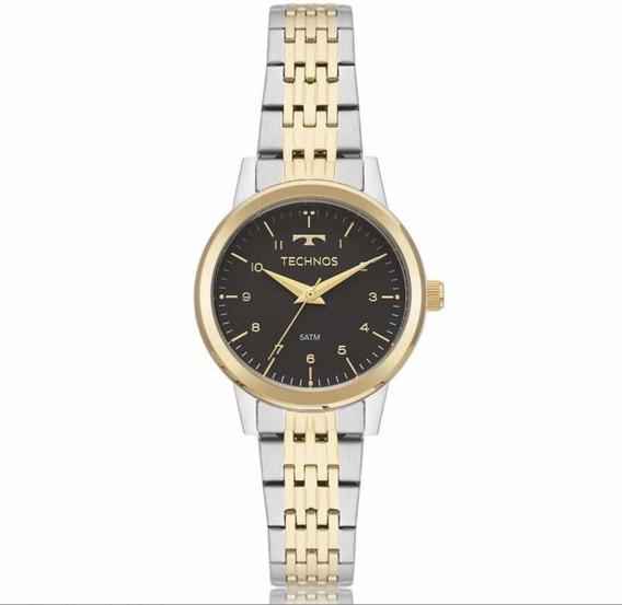 Relógio Technos Dourado Com Prata Feminino 2035mpc/5p