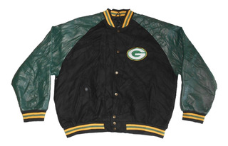 Campera Nfl - Xl - Green Bay Packers - Simil Cuero - 181