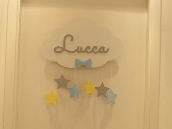 Porta Da Maternidade Nuvem Com Led - Lucca