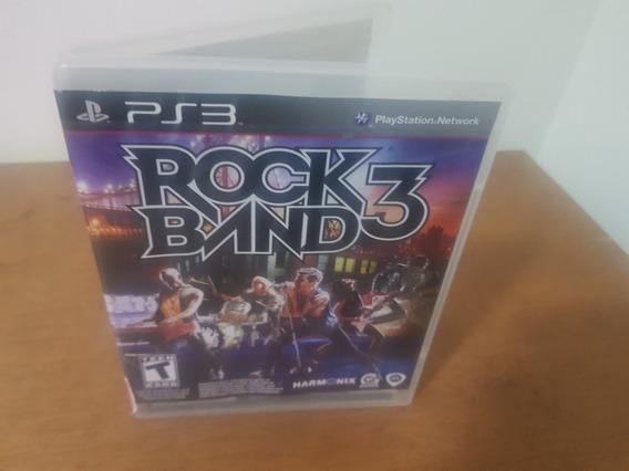 Rock Band 3 Usado Original Manual Ps3 Mídia Física.