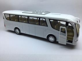 Miniatura Ônibus Coach Branco