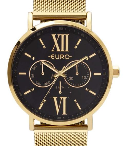 Relógio Euro Feminino Multifunção Dourado Eu6p29ahc/4p + Nfe