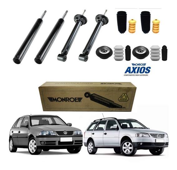 Kit 4 Amortecedor Gol Parati G2 G3 G4 Monroe Gás + Kit Axios
