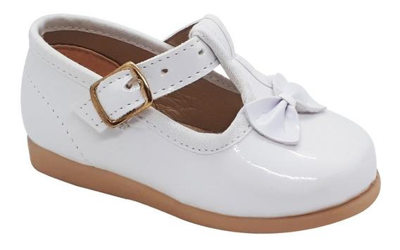 Zapato Guillermina Bautismo/fiesta Nena-bebe Blanco