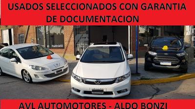 Honda Civic Tope De Gama $500.000 Y Cuotas Fijas En Pesos