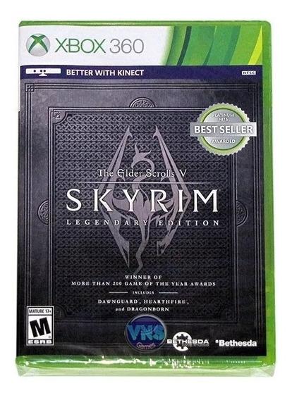 The Elder Scrolls V Skyrim Legendary Edition Xbox 360 - Lacrado - Mídia Física