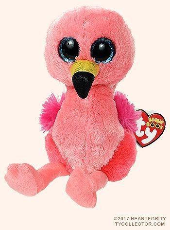 Pelúcia Beanie Babies Ty Flamingo Gilda 16cm