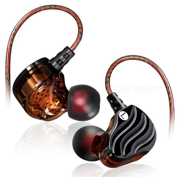 Fone In Ear Qkz Kd4 Dual Driver Retorno De Palco Com Case