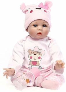 Muñeca Bebe Reborn De Silicona 55 Cm