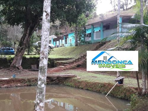Imagem 1 de 14 de Chácara Com Lago - A 4 Km Da Rodovia - Juquitiba Sp.