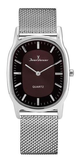 Relógio Pulso Jean Vernier Aço Inoxidável Unissex Jv00071a
