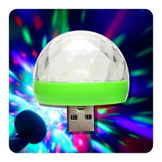 Media Esfera Led Small Magic Ball 4w Audioritmica Otg Usb Dj