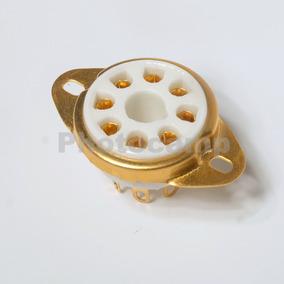 Soquete Contatos Dourados Para Valvulas 8 Pinos - Octal