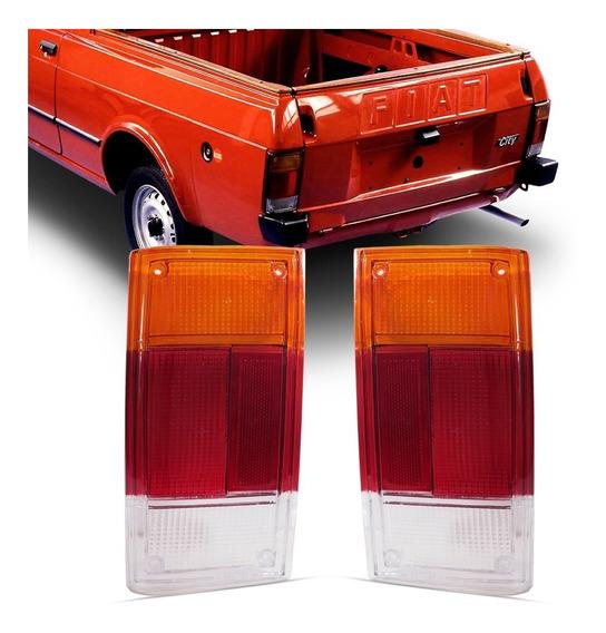 Par Lente Lanterna Traseira Fiat Pick Up City 83 84 85 86