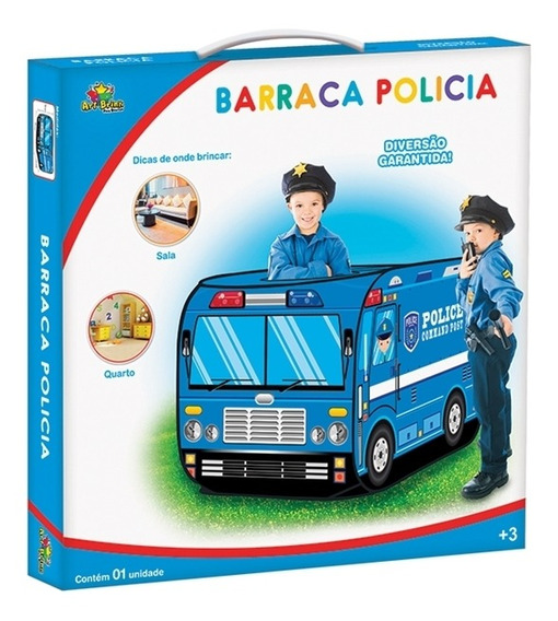 Barraca Infantil Policia Casinhados Menino Cabana Com Janela