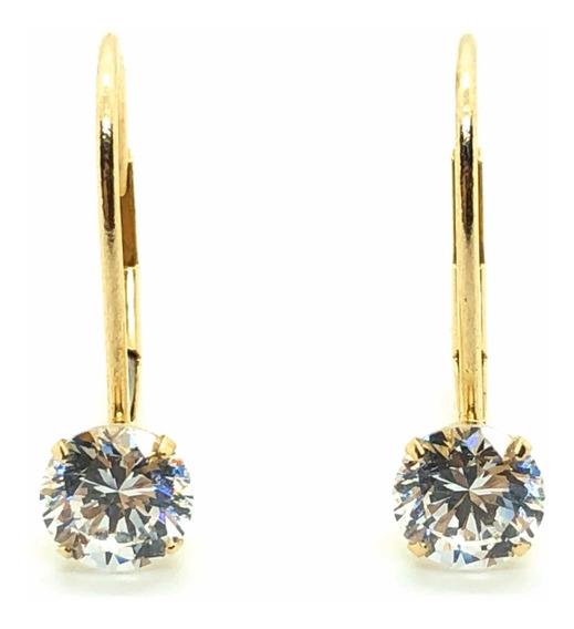 Aros De Oro Y Cristales Swarovski