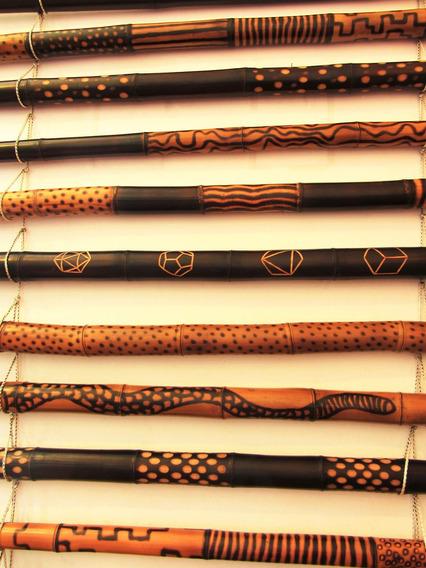 Didgeridoo De Bambú - Yidaki - Nektar - Flameado - Texturado